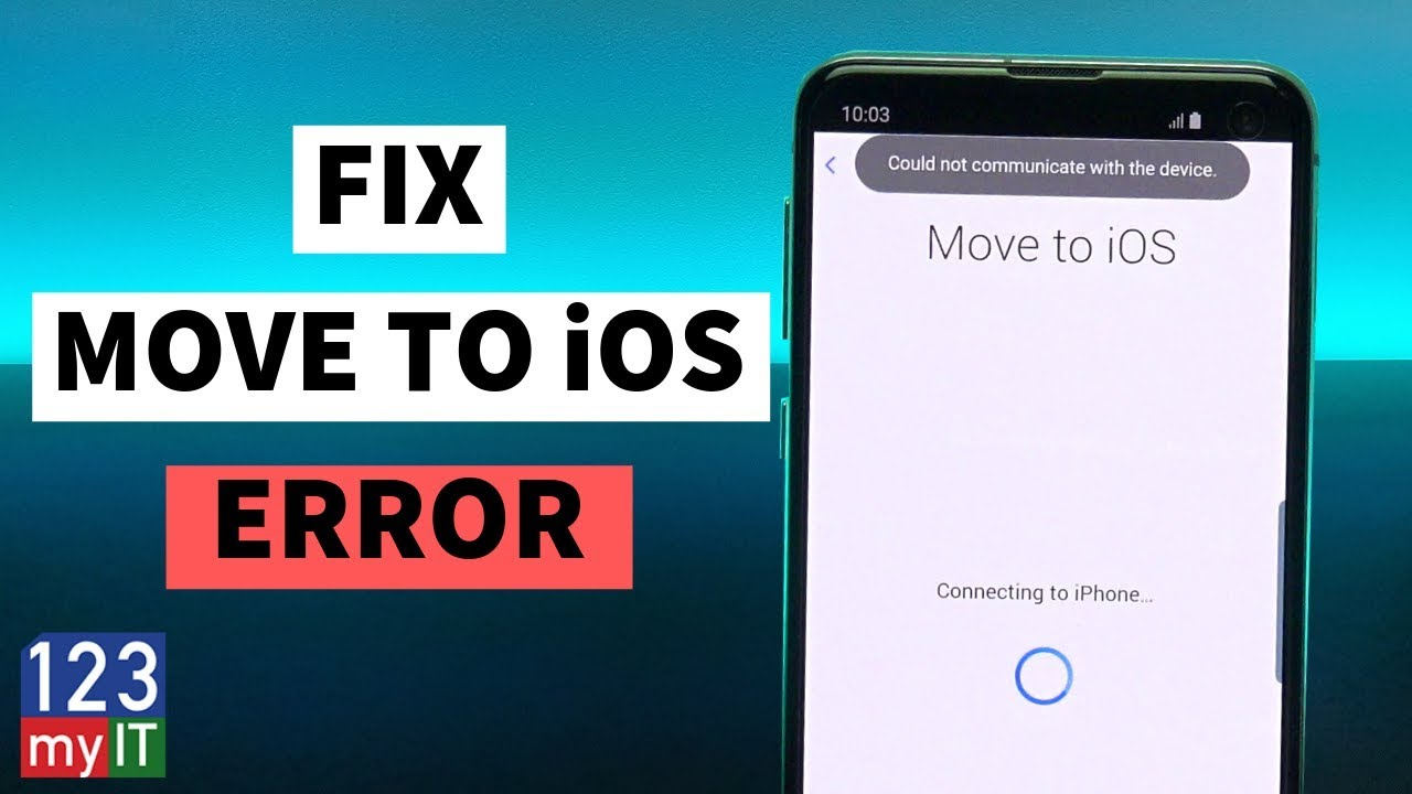 Fix Could not communicate with the device Move to iOS