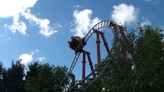 Dragon's Fury Spinning Roller Coaster POV Chessington World of Adventures London England UK