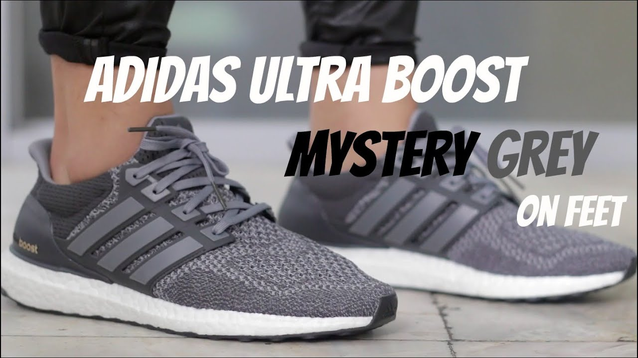 Adidas Ultra Boost Mystery Grey On Feet