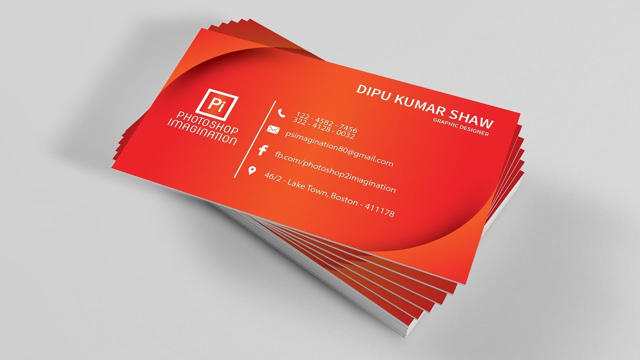 Illustrator Tutorial - Simple Clean Business Card Design - YouTube