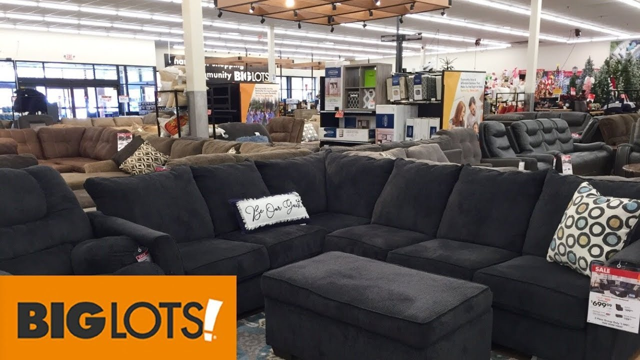 BIG LOTS FURNITURE SOFAS COUCHES ARMCHAIRS HOME DECOR - SHOP WITH ME  SHOPPING STORE WALK THROUGH 6K