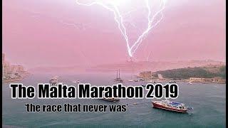 The Malta Marathon 2019 cancelled race Malta Storm 24/02/2019, big wave footage