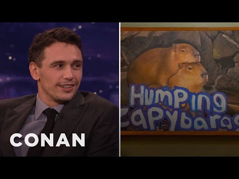 "Thumbnail: ""Why Him?"" Features James Franco's Painting Of Humping Capybaras - CONAN on TBS"