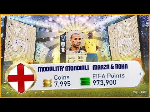 1 MILIONE DI FIFA POINTS PER LA MODALITA' DEI MONDIALI - MARZA & ROHN
