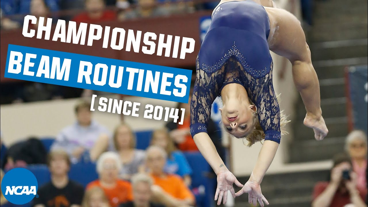 Every NCAA gymnastics championship beam routine from 2014-19