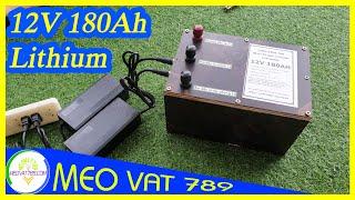 Đóng ắc quy 12V 180Ah bằng pin Lithium LiPo 3.7V 3S Zalo 0355774789