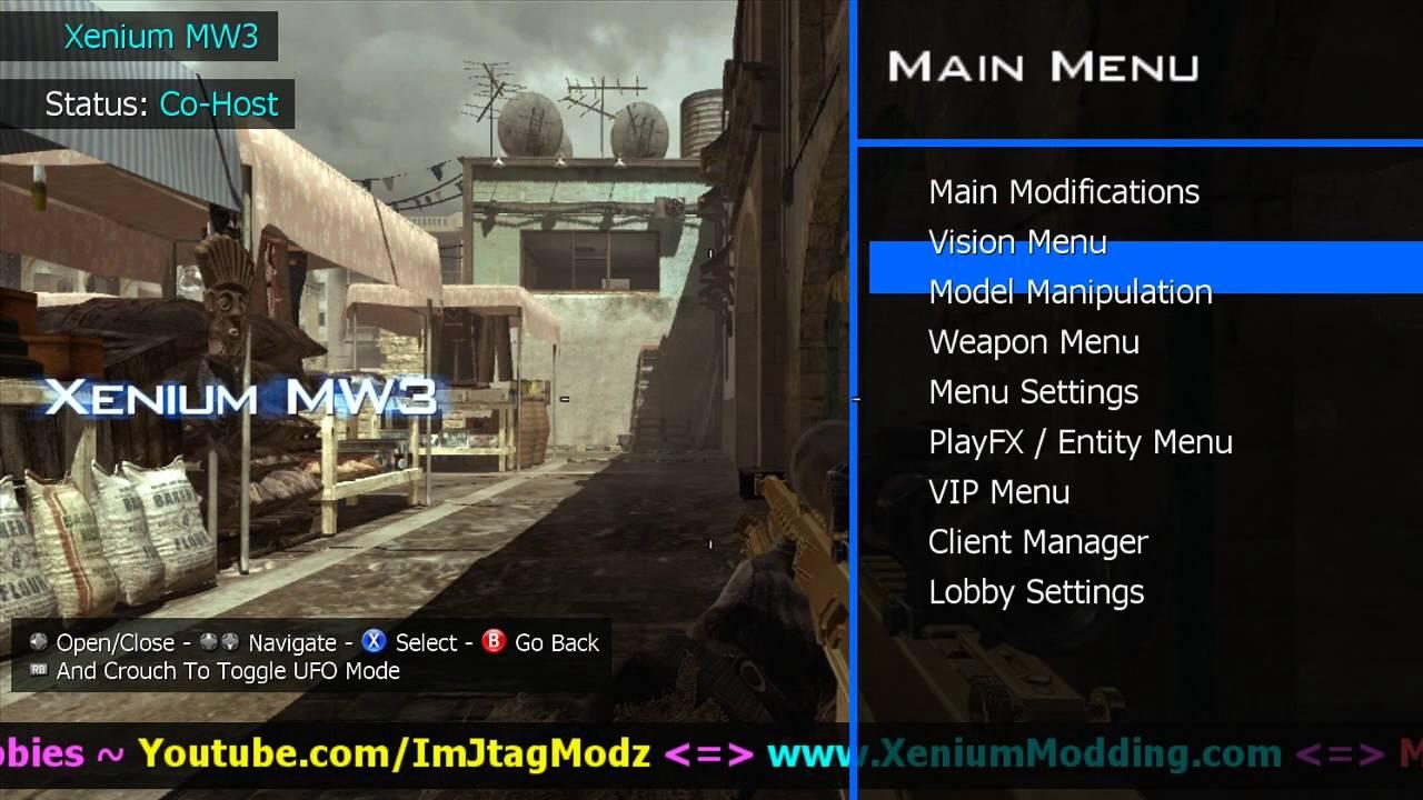 Mw3 jtag mod menu