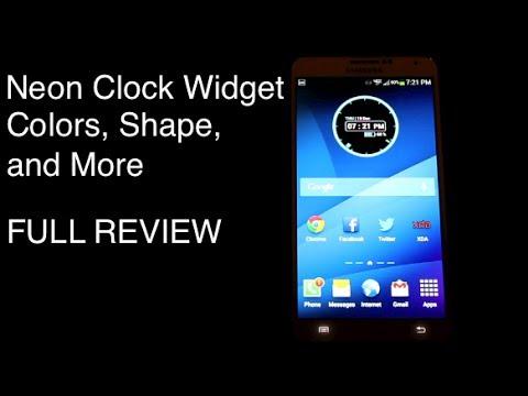 [APP] FREE Neon Clock Widget, Best Neon Clock Widget!