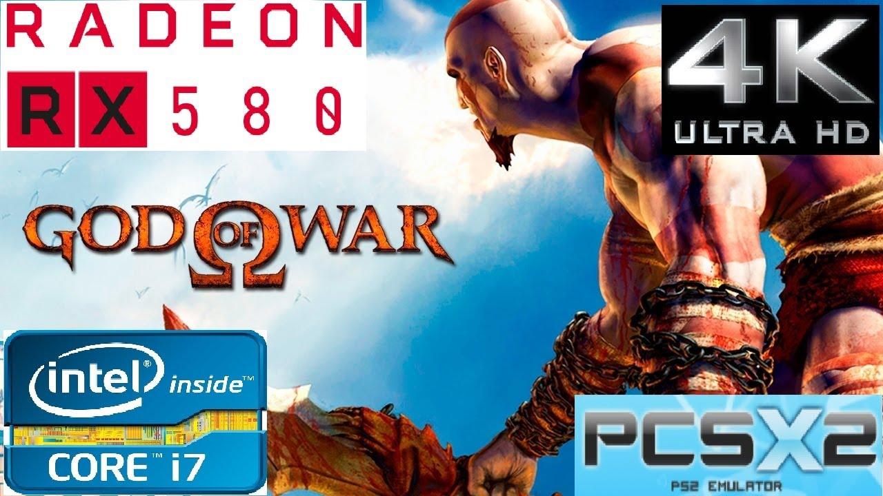 PCSX2 1 4 0 (PS2)- God of War (4K) 2160p - 3770k - Rx 580