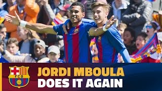 Another brilliant goal from Jordi Mboula in the UYL against Salzburg