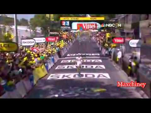 NBC Sports TDF 2013 Stage 12 Kittel wins !
