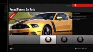 Forza 4 August Playseat Car Pack DLC