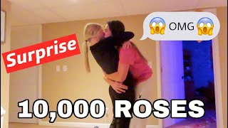 Surprising My Girlfriend With 10,000 Roses For Our 1 Year!
