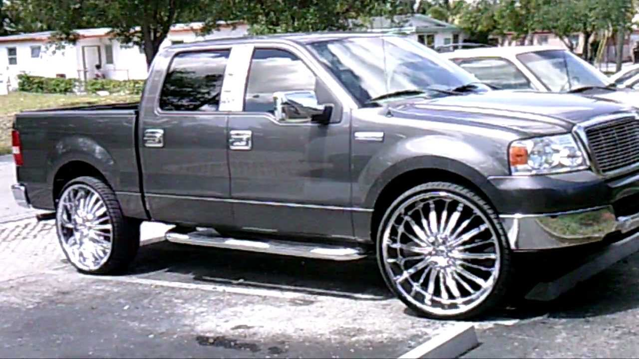 Ford F150 Rims >> (PiefacePresentWhips)Ford F-150 On 28's.AVI - YouTube