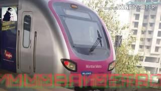 MUMBAI METRO TRAIN ARRIVAL & DEPARTURE  IN SAKINAKA METRO STATION