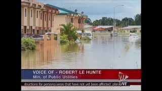 Public Utilities Minister Robert Le Hunte On The State Of Utility Companies After Devastating Floods