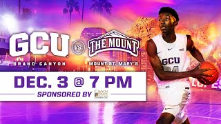 GCU Men's Basketball vs Mount St. Mary's December 3, 2019