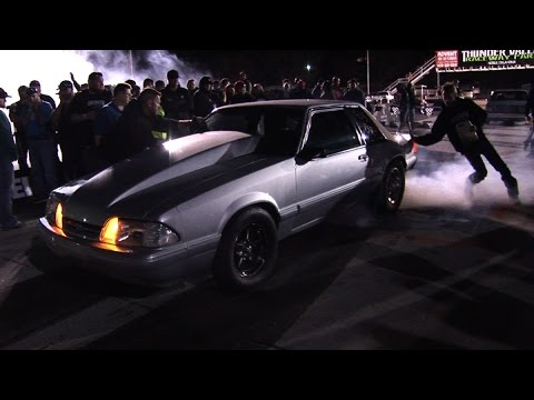 Daddy Dave Driving Nitrous Mustang