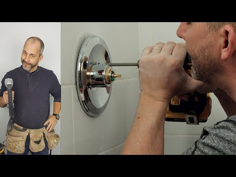 how-to-install-finishing-trim,-showerhead-and-caulking