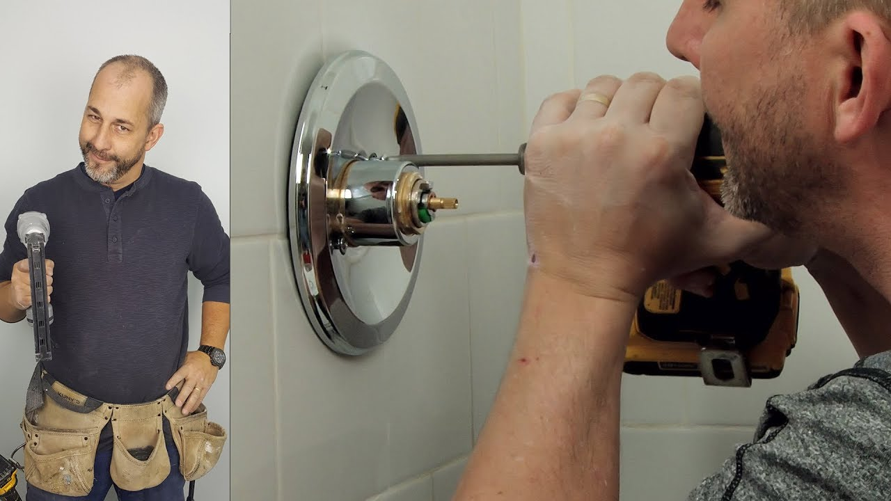 How To Install Finishing Trim, Showerhead and Caulking - YouTube