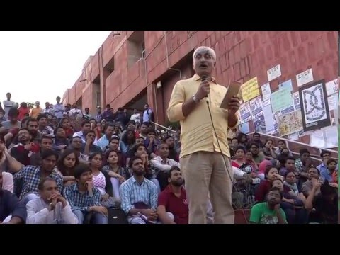 Prof  Apoorvanand Speech  delivered at JNU Alternative Classroom on 04.03.2016