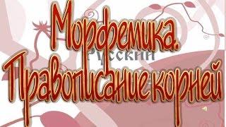 Русский язык 11 класс. Морфемика. Правописание корней