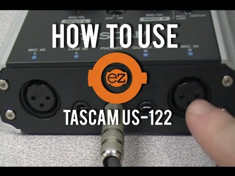 HOW TO USE TASCAM SOUND CARD