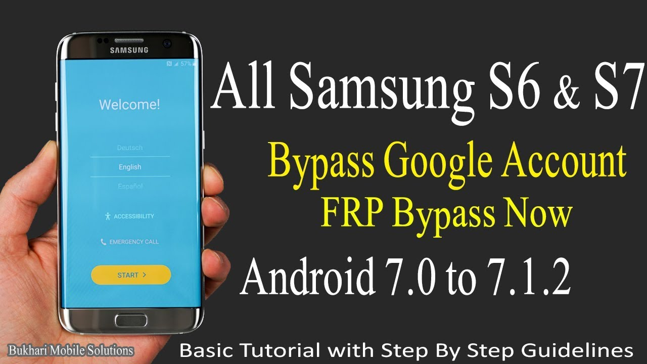 [FRP Bypass] Samsung S6, S7 Edge + Bypass Google Account Without PC