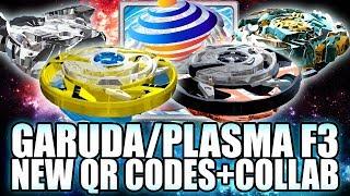 QR CODES MAXIMUM GARUDA PLASMA F3 + COLLAB C/ ZANKYE! - BEYBLADE BURST APP QR CODES