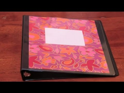 How to decorate a three ring binder arts crafts youtube for Fomic sheet decoration youtube