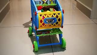 Kids Toys Supermarket Shopping Cart Grocery  Kids Trolley Pretend Play Set