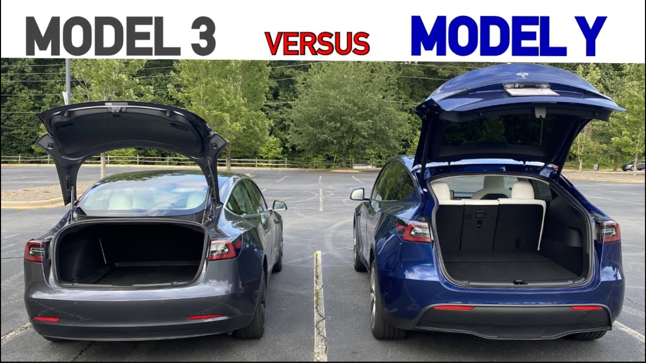 Tesla Model Y and Model 3 Trunk and Frunk Size Comparison ...