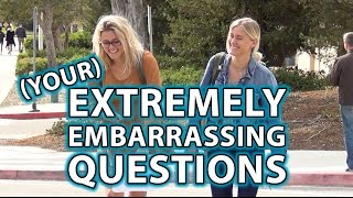 BEST Embarrassing Questions in Public Compilation!! (Viewer Comments!)
