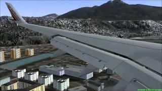 FS2004 - Landing B737 Air Berlin at Airport Innsbruck (Austria).mp4