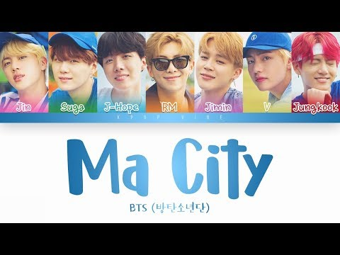 BTS () - Ma City (Color Coded Lyrics Han/Rom/Eng)