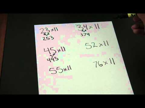 Multiplication trick 11 times table by two digit numbers for 11 times table trick