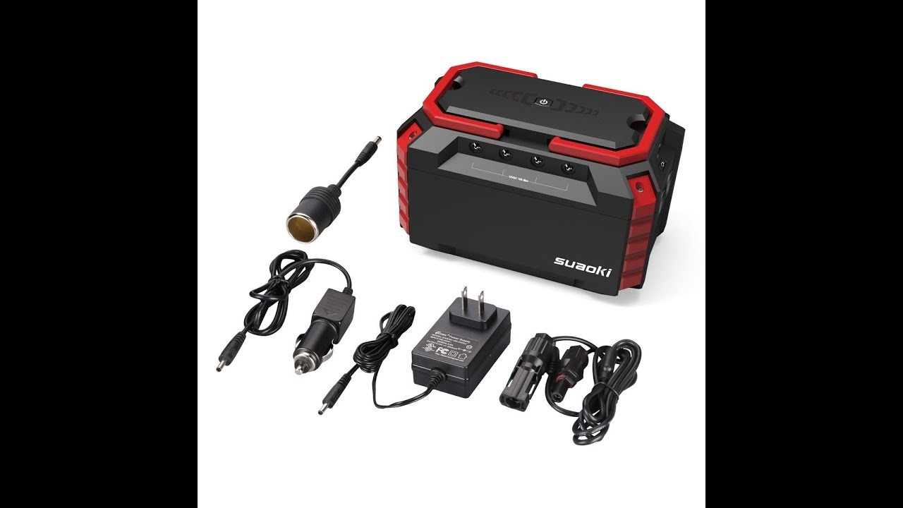 Review Suaoki Portable Power Station 150wh Quiet Gas Free Solar Home Supply Inverter Generator Qc30