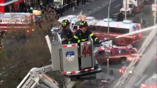 FDNY BOX 1622 - FDNY BATTLING MAJOR VICIOUS 6TH ALARM FIRE IN A MULTIPLE DWELLING ON 144TH STREET.