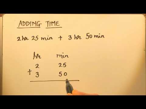 ADDING TIME (HOURS AND MINUTES)