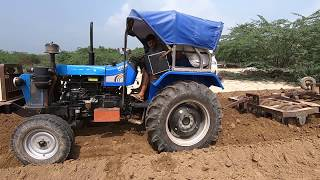Sonalika Di-750 III tractor Stuck with 2 harrow in madina