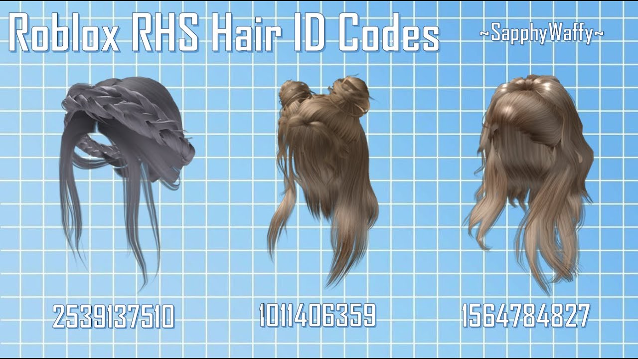 Roblox Rhs Hair Id Codes Youtube
