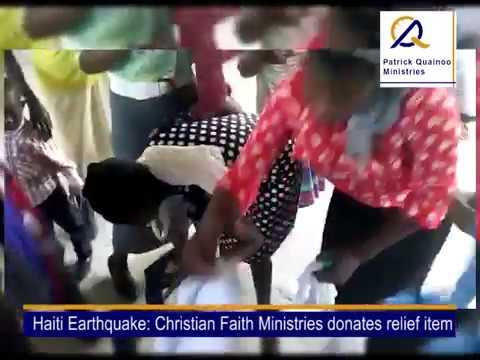 CFM  AND PQ MINISTRIES DONATE TO HAITI