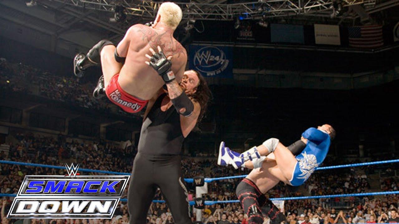 The Undertaker & Kane vs. Mr. Kennedy & MVP: SmackDown, November 3, 2006 - YouTube