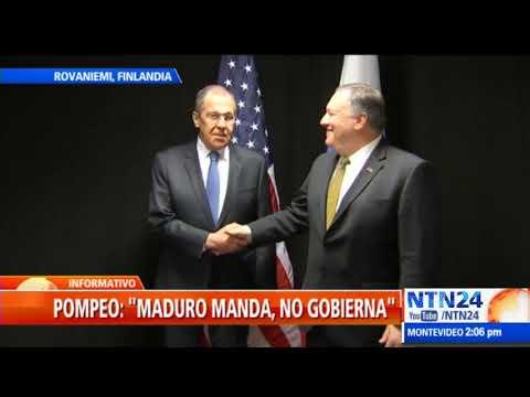 Pompeo se reunió con canciller ruso con quien habló sobre situación en Venezuela