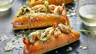 Shrimp Scampi Sub Sandwich Recipe
