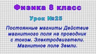 Физика 8 класс (Урок№25 - Постоянные магниты. Действие магнитного поля на проводник с током.)