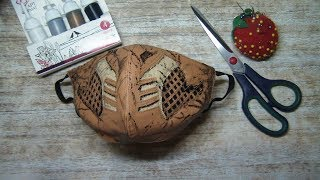mask Маска на лицо своими руками How to sew a mask from the game Mortal Kombat Scorpio 2020
