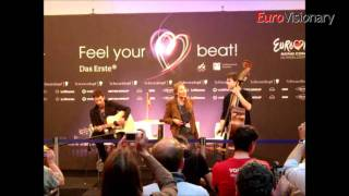 Anna Rossinelli - In Love For A While - Switzerland - Eurovision 2011 - 1st press conference