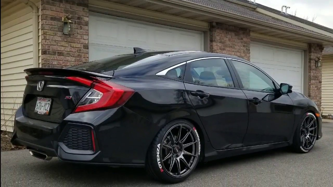 10Th Gen Civic >> Civic Si 10th Gen New Wheels And Lowered Youtube