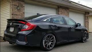 Civic Si 10th Gen. New Wheels and Lowered